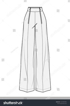 Fashion design sketches 343188434103038275 - Pants fashion flat technical drawing template Source by amikarie Fashion Design Sketchbook, Fashion Design Drawings, Fashion Sketches, Drawing Fashion, High Street Fashion, Retro Mode, Mode Vintage, Fashion Flats, Fashion Art