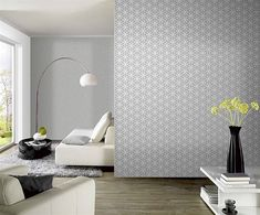Another example of a graphic wall paper accent wall Next Living Room, Living Room Modern, Decoration, Art Decor, Home Decor, Royal Dutch, Piece A Vivre, Home And Deco, Apartment Interior