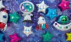 #space #birthdayparty #balloons