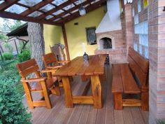 Rustikální zahradní set Picnic Table, Furniture, Home Decor, Decoration Home, Room Decor, Home Furnishings, Home Interior Design, Picnic Tables, Home Decoration