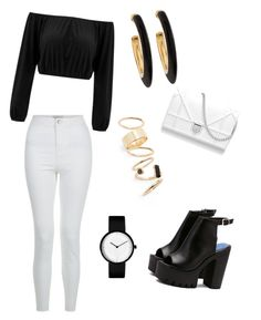 """""""black cool"""" by lolojams ❤ liked on Polyvore featuring New Look, Chico's and BP."""