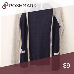 Navy blue/beige cardigan NEW; small and comfortable lightweight  cardigan Jackets & Coats