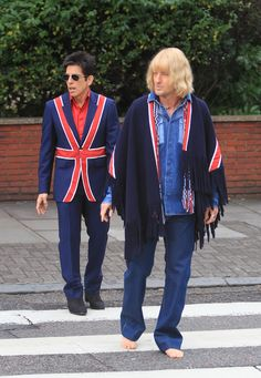 Ben Stiller and Owen Wilson promote 'Zoolander 2' at the Abbey Road crossing used by The Beatles for their Abbey Road album cover.