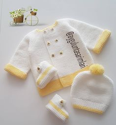 Saying hello to good morning happy good day Dear Canan lady order . , Saying hello to good morning happy beautiful day Dear Canan lady order a nice combination with you. Knitted Baby Cardigan, Knit Baby Sweaters, Baby Hats Knitting, Easy Knitting, Baby Knitting Patterns, Knitted Hats, Newborn Crochet, Crochet Baby, Knit Crochet