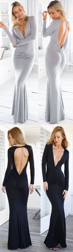 Sexy and elegant Fashion Scoop Back Shape V Dress lights up your life.More wonders in OASAP!