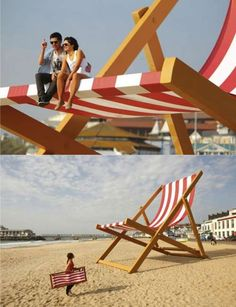 Stuart Murdoch's Installation Rings in the British Summer Time #beach #chairs trendhunter.com