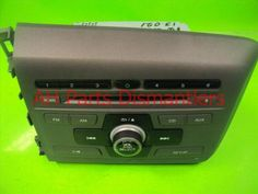 Used 2012 Honda Civic AM/FM/CD RADIO  39171-TR0-A31 39171TR0A31. Purchase from https://ahparts.com/buy-used/2012-Honda-Civic-AM-FM-CD-RADIO-39171-TR0-A31-39171TR0A31/59376-1?utm_source=pinterest