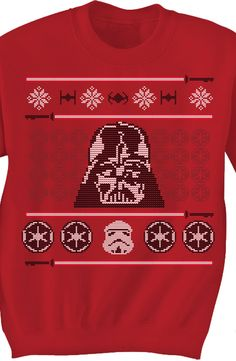 Darth Vader Faux Ugly Sweater: Star Wars Mens Sweatshirt
