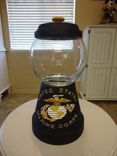 United States Marine Corp. Candy Jar