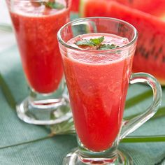 Refreshing watermelon smoothie is super satisfying