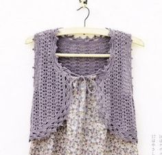 CROCHE DA ANJINHA: Coletes em croche