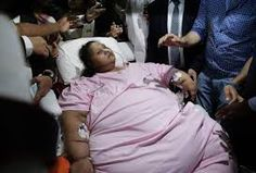 'World's heaviest woman' leaves hospital over 700 pounds lighter