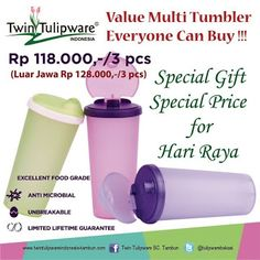 Value Multi Tumbler | New Product Twin Tulipware 2013