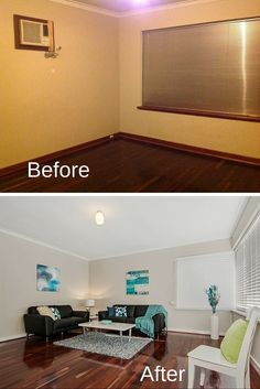 #Lounge room #before and after  Cosmetic renovation by Renovating Made Easy