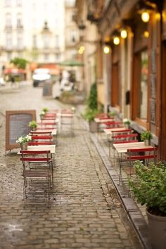 Cute outdoor cafe