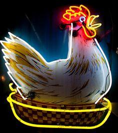 neon chicken