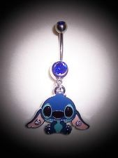 """HOT ITEM!! -""""ADORABLE""""- 14G BELLY BUTTON RING- BRAND NEW!!- VERY POPULAR!!- BLUE"""