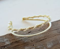 Double Headband, Bride Hair Accessories, Bridal Crown, Hair Vine, Pearl Hair, Bride Hairstyles, Headpiece, Delicate, Pearls