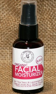 Facial Moisturizer - Great for all Skin types - All Natural Handmade - Spray Bottle - 2 oz