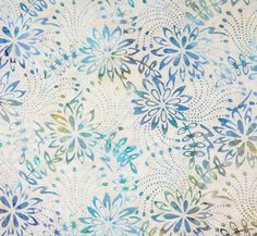 Fairy Flower: Beach Batik Fabric Fat Quarter Half by TCSFabrics
