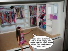 How to make a dollhouse closet for your Barbie