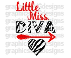 Litte Miss Diva SVG File For Cricut and Cameo DXF by SukiesDesigns