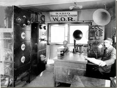 Estudio de radio, 1927.