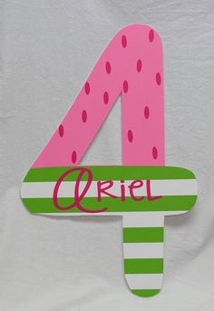 Strawberry Shortcake - Number Birthday Sign - Great for Photo Prop or Decoration