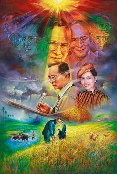 King Painting, King Rama 9, Bhumibol Adulyadej, Peace Art, King Of Kings, Filipino, Thailand, Artwork, Ideas