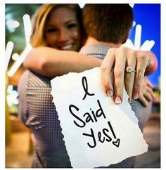 """engagement photo """"I said YES!"""""""