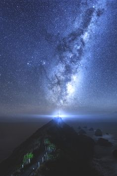 View of our Milky Way galaxy in the night sky