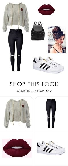 """My First Polyvore Outfit"" by tedikotka-az ❤ liked on Polyvore featuring Sans Souci, adidas and Witchery"