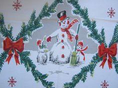 Awesome Christmas tablecloth Cottage Christmas, Christmas Past, Modern Christmas, Retro Christmas, All Things Christmas, Christmas Holidays, Christmas Crafts, Christmas Decorations, Holiday Tablecloths
