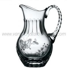 Springtime Clear Water Pitcher 448€ Clear Vases, Whiskey Decanter, Water Pitchers, Luxury Candles, Crystal Clear Water, Crystal Collection, Spring Time, Craftsman, Glass Art