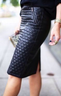 Leather pencil skirt..... Love!