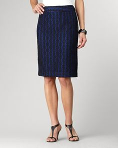 Black lace pencil skirt | Coldwater Creek