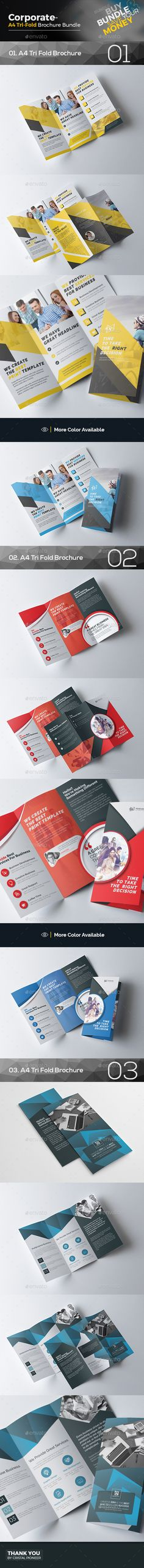 Tri Fold Brochure Bundle Templates Vector EPS, AI Illustrator. Download here: https://graphicriver.net/item/tri-fold-brochure-bundle-3-in-1/17617295?ref=ksioks