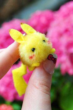 Cutest Pikachu ever! More Cutie Pikachu Kawaii Diy, Kawaii Crafts, Kawaii Cute, Cute Crafts, Kawaii Stuff, Anime Crafts, Kawaii Plush, Anime Kawaii, Pikachu Pikachu