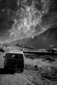 Would love to do a road trip in a vw camper van and find a wide open space where I could see stars like this