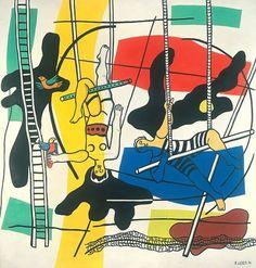 Fernand Léger. Trapeze Artists, 1954. Oil on canvas 392 x 373 cm