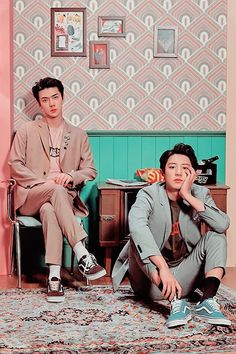 """Chanyeol x Sehun // We Young That's the """" I'm taller why do I have to sit in the ground?"""" And sehun be like """"try me"""" Kpop Exo, Exo Ot9, Park Chanyeol, K Pop, Kdrama, Exo Couple, Exo Lockscreen, Kim Minseok, Xiuchen"""