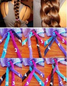 "4 strand braid ""how to"""
