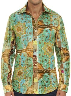 Robert Graham GOLD FIELD Shirt, Style RS151603, Spring 2015, Limited Edition 357 Made