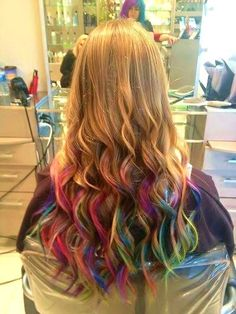 "callitkarmaa: "" Rainbow Ombre at work today """