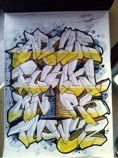 Graffiti Alphabet Styles, Graffiti Lettering Alphabet, Graffiti Text, Graffiti Piece, Best Graffiti, Graffiti Wall Art, Graffiti Tagging, Graffiti Designs, Graffiti Drawing