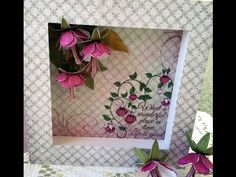 Making flowers & card using Arianna Blooms from Heartfelt creations - YouTube