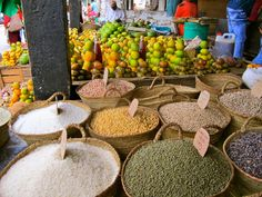 Darajani Bazaar - Stone Town, Zanzibar Spices and fruit section