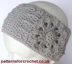 Free crochet pattern ear warmer headband I need one in black...wish I could crochet. ANYONE help...