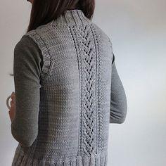Knit vest with back detail
