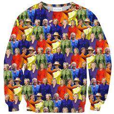 Sweatshirts - Hillary Clinton Rainbow Suits Sweater